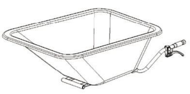 FORT Cuve en plastic 160l pour minitransporteur 600W