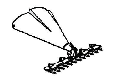 FORT Barre de coupe mulching Busatis 82cm pour Micro 2000 Motofacheuse machine de base