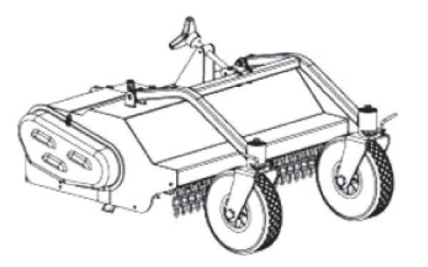 FORT Frontschlegelmäher 75cm mit Vorderräder zu VISION Multifunktions-Raupengeräteträger