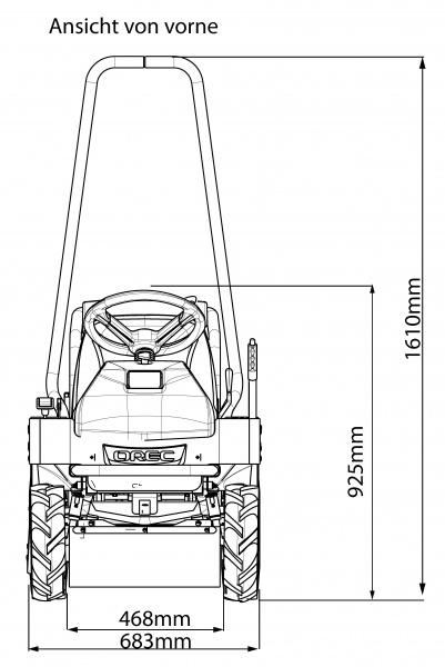 OREC Aufsitz-Gestrüppmäher RM60G