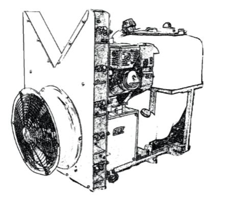 FORT Atomiseur vertical avec moteur Kohler CH395 pour ALIEN HY Minitransporteur