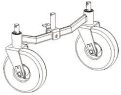 """FORT Hinterachse mit 2 schwenkbaren Räder 3.00/4"""" zu 600W Minitransporter"""