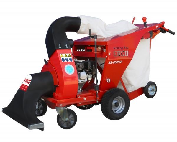 ERCO ES-660PIA Aspirateur à feuilles tracté avec ROLLING BAG