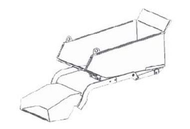 FORT Mulde verzinkt mit Ladeschaufel 100 x 65 x 40cm zu ALIEN HY 6.5.1 Minitransporter