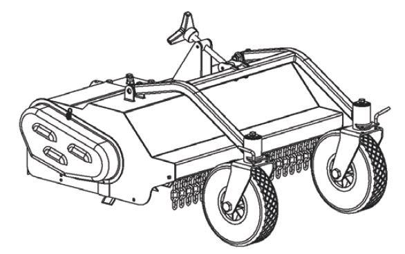 FORT Broyeur d'herbe antérieur 75cm avec petit roues avant pour série 180 motoculteur machine de base