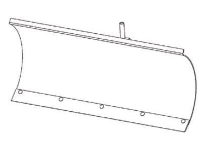 FORT Schneeschild 100cm zu Serie 180 Einachser