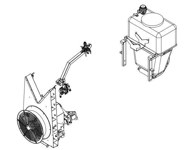 FORT Sprühgerät hydraulisch zu VISION Multifunktions-Raupengeräteträger