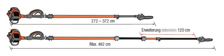 ECHO Rohrverlängerung zu Hochentaster PPT-265ES